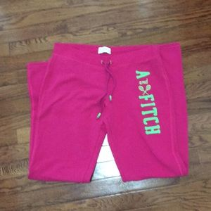 Abercrombie & Fitch Pink Sweatpants
